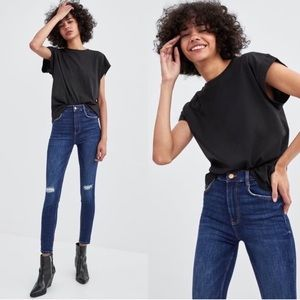 [Zara] TRF Ripped Vintage Hi Rise Jeans